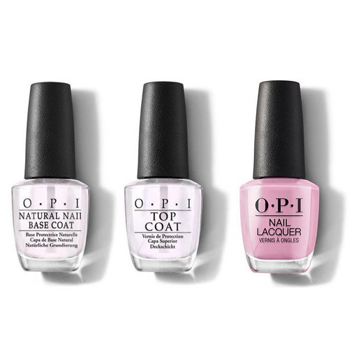 OPI - Nail Lacquer Combo - Base, Top & Another Ramen-tic Evening 0.5 oz - #NLT81