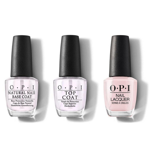OPI - Nail Lacquer Combo - Base, Top & Baby, Take a Vow 0.5 oz - #NLSH1