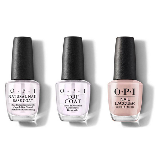 OPI - Nail Lacquer Combo - Base, Top & Bare My Soul 0.5 oz - #NLSH4