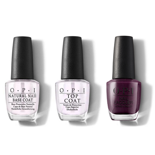 OPI - Nail Lacquer Combo - Base, Top & Boys Be Thistle-ing At Me 0.5 oz - #NLU17