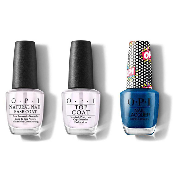 OPI - Nail Lacquer Combo - Base, Top & Bumpy Road Ahead 0.5 oz - #NLP53