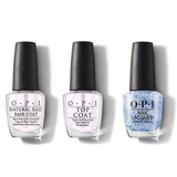 OPI - Nail Lacquer Combo - Base, Top & Butterfly Me to the Moon 0.5 oz - #NLC79
