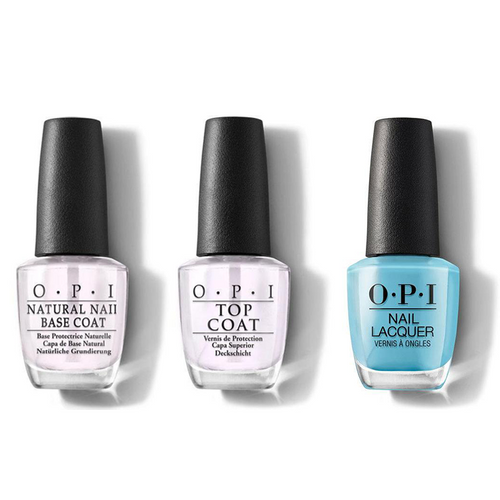OPI - Nail Lacquer Combo - Base, Top & Can't Find My Czechbook 0.5 oz - #NLE75