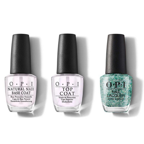 OPI - Nail Lacquer Combo - Base, Top & Can't be Camouflaged! 0.5 oz - #NLC77