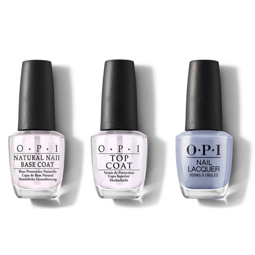 OPI - Nail Lacquer Combo - Base, Top & Check Out the Old Geysirs 0.5 oz - #NLI60