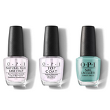 OPI - Nail Lacquer Combo - Base, Top & Closer Than You Might Belem 0.5 oz - #NLL24