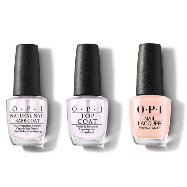 OPI - Nail Lacquer Combo - Base, Top & Coney Island Cotton Candy 0.5 oz - #NLL12