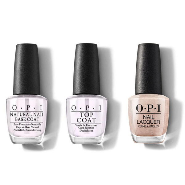 OPI - Nail Lacquer Combo - Base, Top & Cosmo-Not Tonight Honey! 0.5 oz - #NLR58