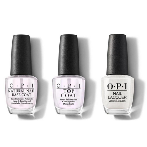 OPI - Nail Lacquer Combo - Base, Top & Dancing Keeps Me On My Toes 0.5 oz - #NLHRK01