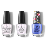 OPI - Nail Lacquer Combo - Base, Top & Days Of Pop 0.5 oz - #NLP52