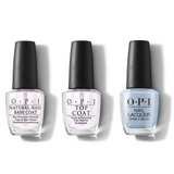 OPI - Nail Lacquer Combo - Base, Top & Did You See Those Mussels? 0.5 oz - #NLE98