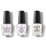 OPI - Nail Lacquer Combo - Base, Top & Don't Cry Over Spilled Milkshakes 0.5 oz - #NLG41