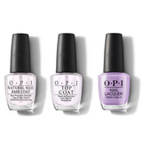 OPI - Nail Lacquer Combo - Base, Top & Don't Toot My Flute 0.5 oz - #NLP34