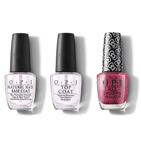 OPI - Nail Lacquer Combo - Base, Top & Dream In Glitter 0.5 oz - #HRL14