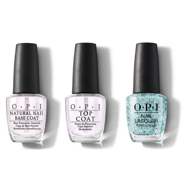 OPI - Nail Lacquer Combo - Base, Top & Ecstatic Prismatic 0.5 oz - #NLC78