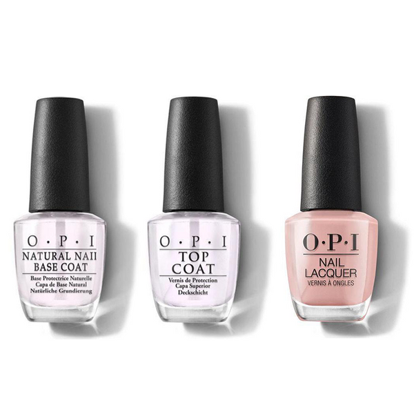 OPI - Nail Lacquer Combo - Base, Top & Edinburgh-er & Tatties 0.5 oz - #NLU23