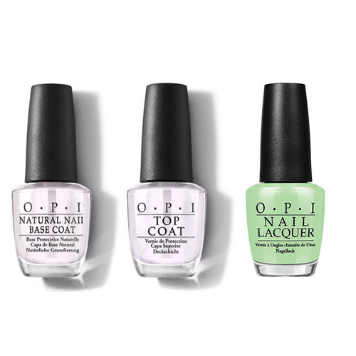 OPI - Nail Lacquer Combo - Base, Top & Gargantuan Green Grape 0.5 oz - #NLB44