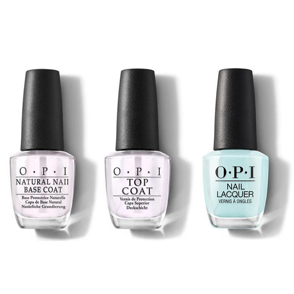 OPI - Nail Lacquer Combo - Base, Top & Gelato on My Mind 0.5 oz - #NLV33