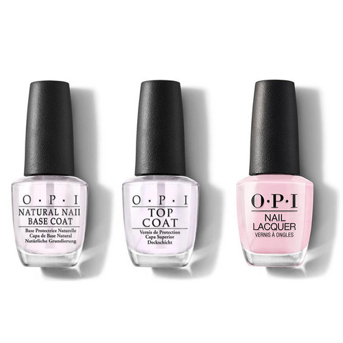 OPI - Nail Lacquer Combo - Base, Top & Getting Nadi On My Honeymoon 0.5 oz - #NLF82