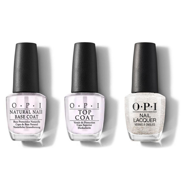 OPI - Nail Lacquer Combo - Base, Top & Happy Anniversary! 0.5 oz - #NLA36