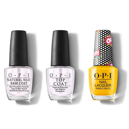 OPI - Nail Lacquer Combo - Base, Top & Hate To Burst Your Bubble 0.5 oz - #NLP48
