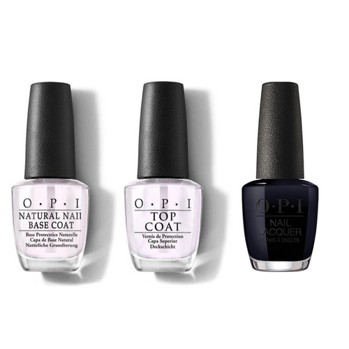 OPI - Nail Lacquer Combo - Base, Top & Holidazed Over You 0.5 oz - #NLHRJ04