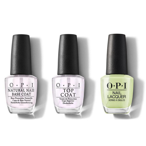 OPI - Nail Lacquer Combo - Base, Top & How Does Your Zen Garden Grow? 0.5 oz - #NLT86