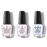 OPI - Nail Lacquer Combo - Base, Top & I Am What I Amethyst 0.5 oz - #NLT76