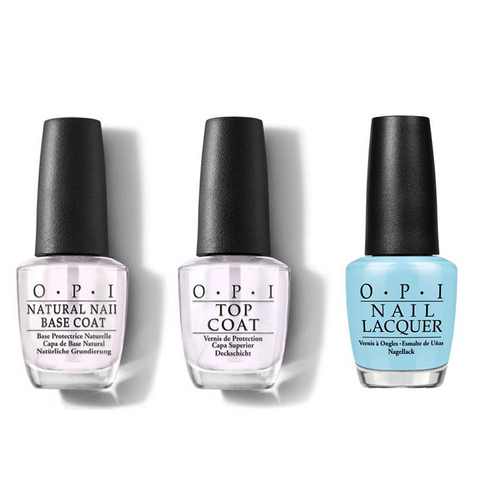 OPI - Nail Lacquer Combo - Base, Top & I Believe in Manicures 0.5 oz - #HRH01