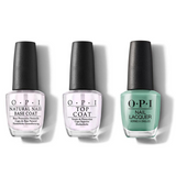 OPI - Nail Lacquer Combo - Base, Top & I'm On a Sushi Roll 0.5 oz - #NLT87
