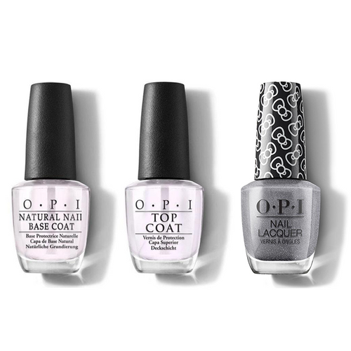 OPI - Nail Lacquer Combo - Base, Top & Isn't She Iconic! 0.5 oz - #HRL11