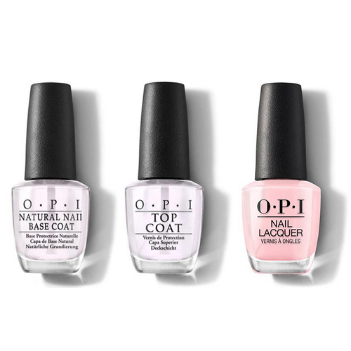 OPI - Nail Lacquer Combo - Base, Top & It's A Girl 0.5 oz - #NLH39