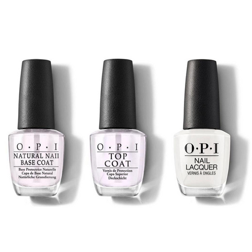 OPI - Nail Lacquer Combo - Base, Top & It's in the Cloud 0.5 oz - #NLT71