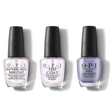 OPI - Nail Lacquer Combo - Base, Top & Just a Hint of Pearl-ple 0.5 oz - #NLE97