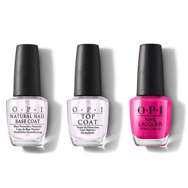 OPI - Nail Lacquer Combo - Base, Top & La Paz-itively Hot 0.5 oz - #NLA20