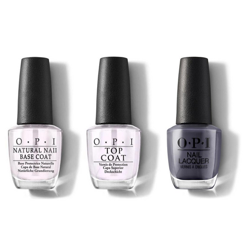 OPI - Nail Lacquer Combo - Base, Top & Less is Norse 0.5 oz - #NLI59