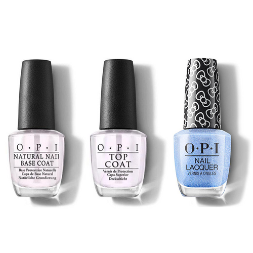 OPI - Nail Lacquer Combo - Base, Top & Let's Love Sparkle 0.5 oz - #HRL08