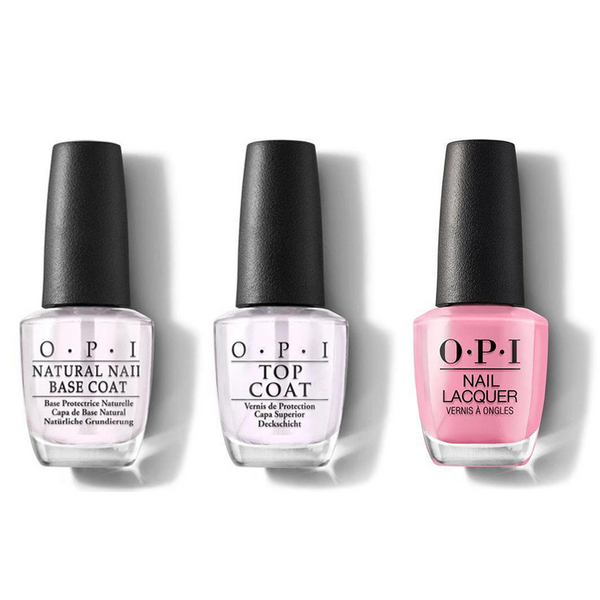 OPI - Nail Lacquer Combo - Base, Top & Lima Tell You About This Color! 0.5 oz - #NLP30