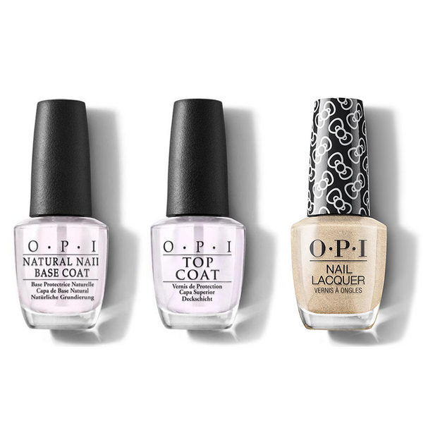 OPI - Nail Lacquer Combo - Base, Top & Many Celebrations To Go! 0.5 oz - #HRL10