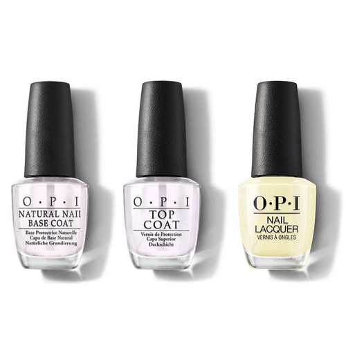OPI - Nail Lacquer Combo - Base, Top & Meet A Boy Cute As Can Be 0.5 oz - #NLG42