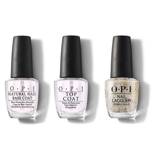OPI - Nail Lacquer Combo - Base, Top & Metamorphically Speaking 0.5 oz - #NLC76