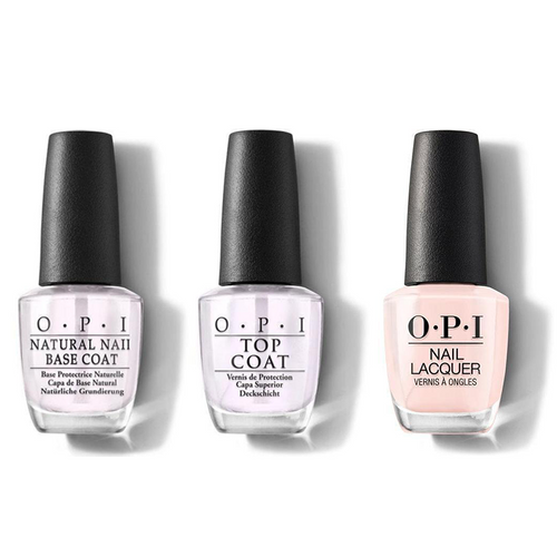 OPI - Nail Lacquer Combo - Base, Top & Mimosas for Mr. & Mrs. 0.5 oz - #NLR41