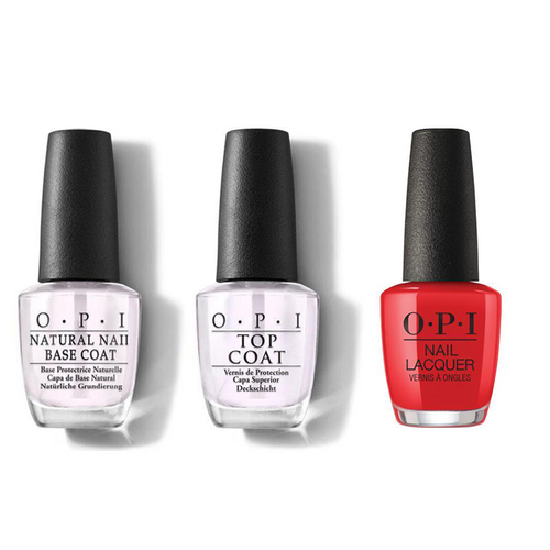 OPI - Nail Lacquer Combo - Base, Top & My Wish List is You 0.5 oz - #NLHRJ10
