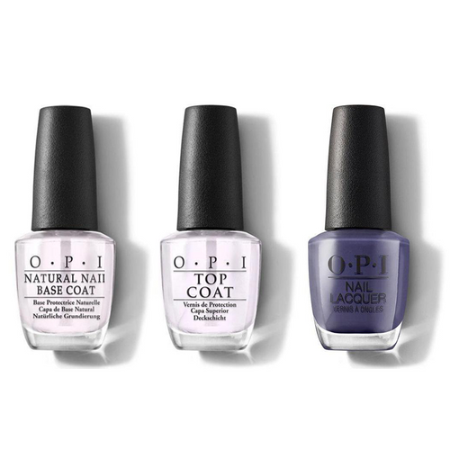 OPI - Nail Lacquer Combo - Base, Top & Nice Set Of Pipes 0.5 oz - #NLU21