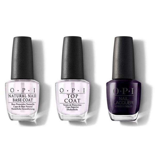 OPI - Nail Lacquer Combo - Base, Top & OPI Ink 0.5 oz - #NLB61