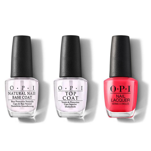 OPI - Nail Lacquer Combo - Base, Top & OPI on Collins Ave. 0.5 oz - #NLB76