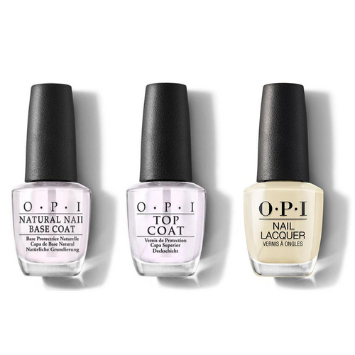 OPI - Nail Lacquer Combo - Base, Top & One Chic Chick 0.5 oz - #NLT73