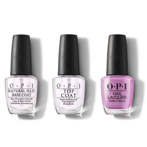 OPI - Nail Lacquer Combo - Base, Top & One Heckla of a Color! 0.5 oz - #NLI62