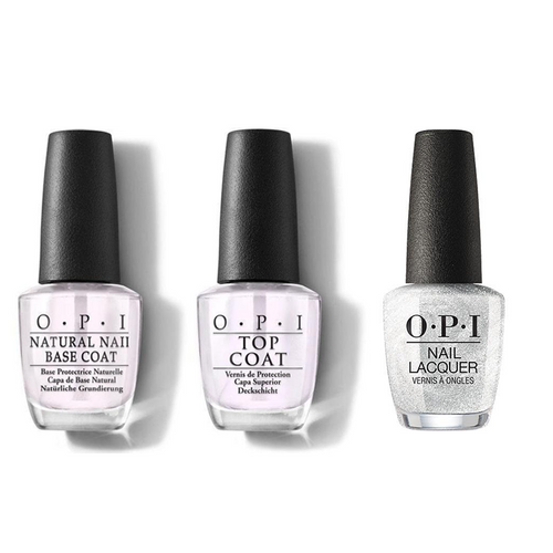 OPI - Nail Lacquer Combo - Base, Top & Ornament to Be Together 0.5 oz - #NLHRJ02