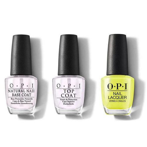 OPI - Nail Lacquer Combo - Base, Top & PUMP Up the Volume 0.5 oz - #NLN70